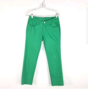JAG Jeans Womens Green Pants Low Rise Slim Ankle